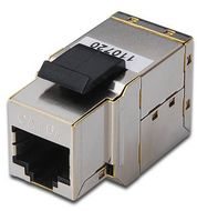 CAT6A MODULAR COUPLER.SHIELDED GR CABL