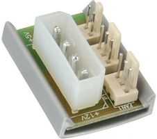 INLINE Lüfter Power Adapter Platine - 4Pin Molex (33008A)