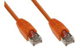 0,3m Patchkabel 1000 Mbit RJ45 - orange