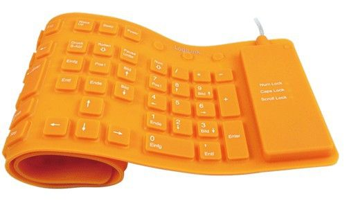 Tastatur USB / PS/2 Flexibel Wasserfest o