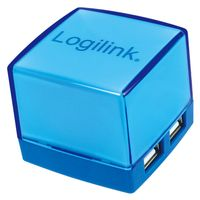 LOGILINK USB-HUB Cube 4-Port illuminated blue (UA0119)