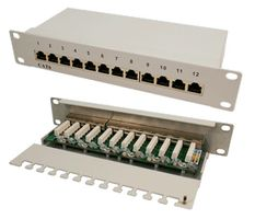 ''Patchpanel 12-Port RJ45 10'''' Cat6 ges