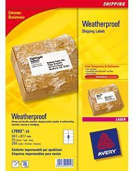 AVERY Weatherproof Shipping Laserlabel 99.1x67.7mm (25) (L7993-25)