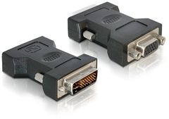 DELOCK - VGA adapter - DVI-I (M) - HD-15 (F) - thu