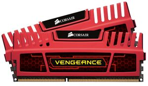CORSAIR DDR3 1866MHz 16GB Kit 2x8GB Dimm Unbuffered 10-11-10-30 Vengeance Red Heatspreader Core i7 i5 and Core 2- Dual Channel 1.5V (CMZ16GX3M2A1866C10R)