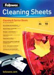 FELLOWES CLEANING AND CARRIER SHEET 10PK