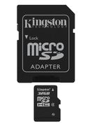 Kingston 32GB microSDHC Class 4 med SD adapter