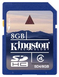 KINGSTON 8GB SDHC Class 4