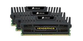 Vengeance™ DDR3 1600MHz 12GB CL8 Kit w/3x 4GB XMS3 modules, CL9-9-9-24,  1.5V, Vengeance Heatspreader,  240 pin