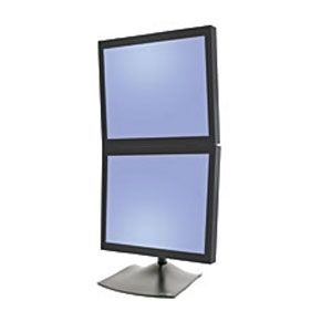 DS 100 SERIE 2X LCD FREESTAND BLACK IN