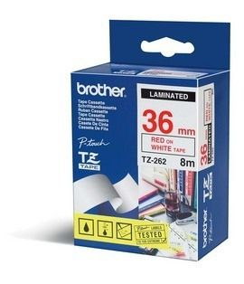 BROTHER TAPE PT-550 36MM RØD