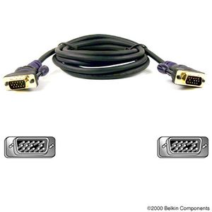 BELKIN SVGA MONITOR CABLE 3M GOLD  NS (F2N028B10-GLD)