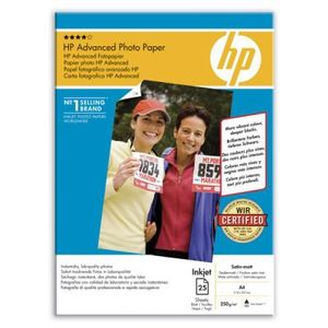 HP Advanced silkematt fotopapir, 25