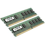 CRUCIAL 1GB KIT (512MBX2) 240-PIN DIMM DDR2-667 PC2-5300 ECC UNBUFFERED (CT2KIT6472AA667)