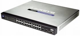 CISCO NETWORKING SWITCH SRW2024 24PORT 10 100 1000 W FIBER EXPANSION AND (SRW2024)