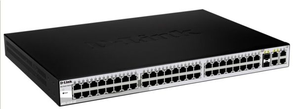 48-PORT 10/100 SMART SWITCH 2 COMBO 1000BASET/ SFP + 2GB IN