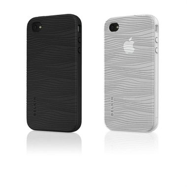 Case Sleeve iPod Touch 4G SI Grip Groove 2pk Black/ Clear