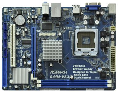 ASROCK G41M-VS3 R2.0  mATX DDR3 (G41M-VS3 R2.0)