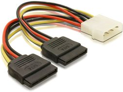 Powercable 4pin Molex -> 2x