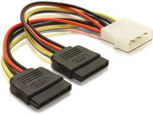 DELOCK Powercable 4pin Molex ->