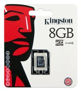 KINGSTON 8GB MICROSDHC CLASS 4 SINGLE PACK W/O ADAPTER