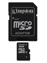 KINGSTON microSDHC 16GB - Minnekort