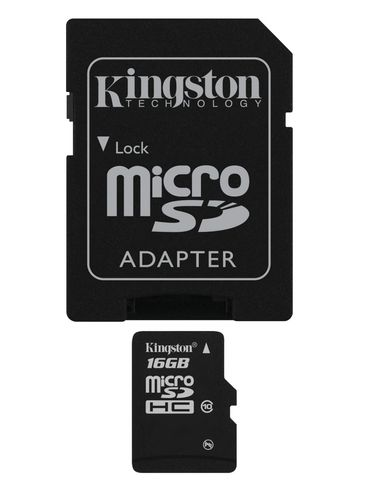 KINGSTON 16 GB microSDHC med SD adapter  Class 10 (SDC10/ 16GB)