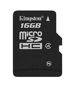 KINGSTON 16GB microSDHC Class 4 Flash Card Single Pack without adapter