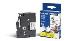BROTHER BROTHER P-TOUCH TAPE 6MM BLACK/ WHITE