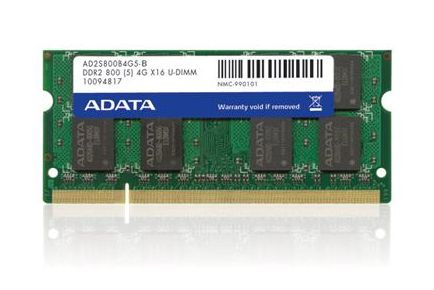 Adata DDR2 SODIMM 1GB 800MHz CL6 Single Tray