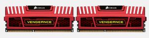 Vengeance Dual C DDR3 8GB Kit, 1600MHz, 2x4GB, Red