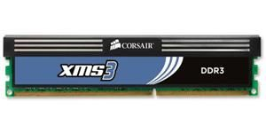 XMS3 DDR3 1333MHz 4GB CL9 XMS3, CL9-9-9-24,  for Phenom II and Core i3/i5/i7, 1.60v