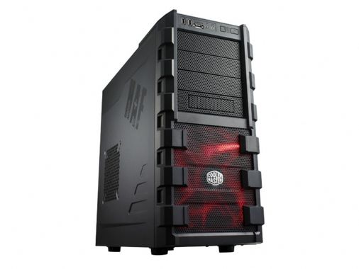Case Midi Tower HAF 912 Plus Black Interior Fornt 200x30 Red Led Fan 1xE-SATA 2x USB2.0