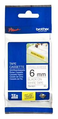 6MM Black On White Strong Adhes