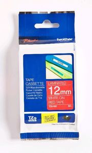 BROTHER Tape/12mm white on red f P-Touch (TZE435)