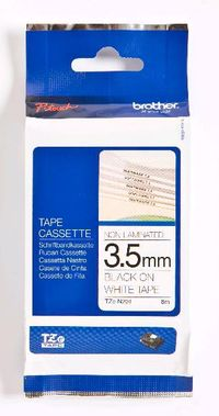 Tape/ 3.5mm black w white f P-Touch TX