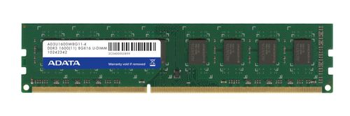 A-DATA DDR3 8GB 1600MHz 1.5V, CL11 (AD3U1600W8G11-R)