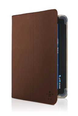 Bi-Fold Folio w/stand Brown