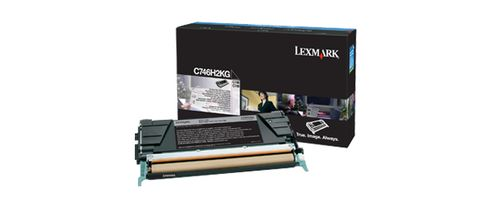 LEXMARK Black High Yield Toner Cartridge  (C746H2KG)