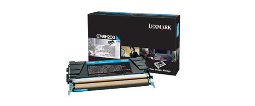 LEXMARK Cyan High Yield Toner Cartridge  (C748H2CG)