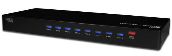 DVI VIDEO/ AUDIO SPLITTER 8-PORT .