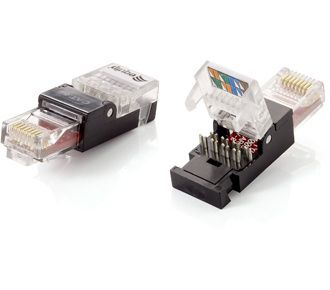 RJ45 CONNECTOR UTP CAT.6 TOOLFREE ASSEMBLY SET OF 2PCS CABL