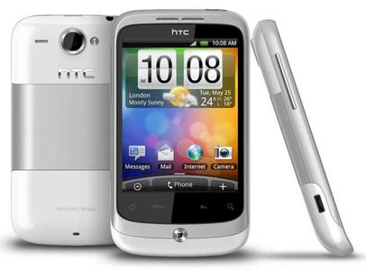 HTC Mobil Wildfire, Pure White- Telenor Låst (99HLC056-00)