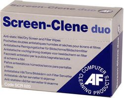 AF Screenclene Duo Wet/Dry Sachets **20-pack** (SCR 020)