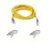 BELKIN crossover cable Cat5e UTP 1m yellow with grey connectors patch cable in bag