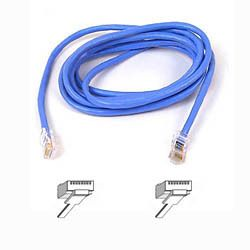 CAT 5 PATCH CABLE ASSEMBLED BLUE 1M IN