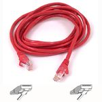 CAT 6 network cable 1,0 m STP red snagless