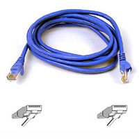 SNAGLESS CAT6 PATCH CABLE 4PAIRRJ45M/ M50CM BLUE NS