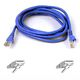 BELKIN SNAGLESS CAT6 PATCH CABLE 4PAIRRJ45M/ M50CM BLUE NS
