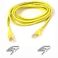 CAT 5 PATCH CABLE 10M MOULDED SNAGLESS YELLOW UK